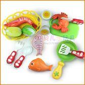 魔術貼塑料過家家廚房切水果玩具魚蝦螃蟹