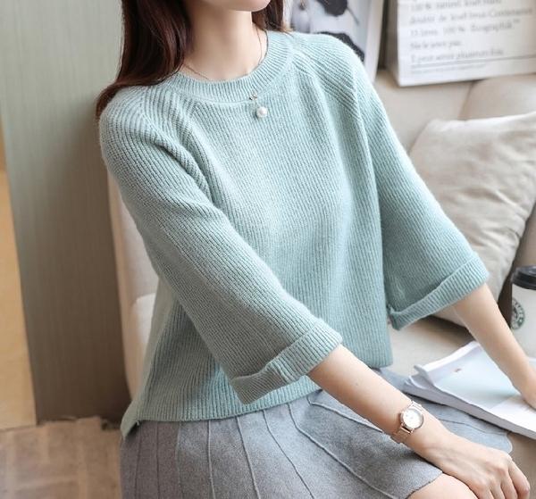 FINDSENSE品牌 秋冬 新款 韓國原裝 女 簡約 純色  寬鬆休閒  短款