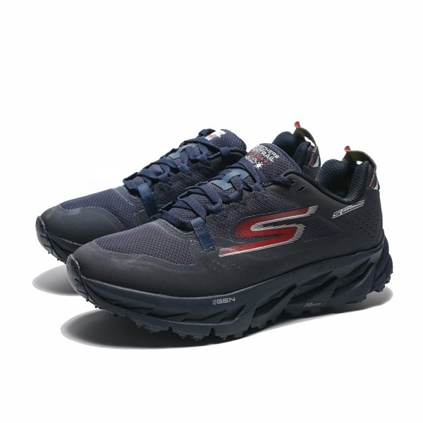SKECHERS GO TRAIL ULTRA 4 深藍 防潑水 多功能 越野 慢跑鞋 男(布魯克林) 55246NVRD