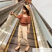 女童網紅夏裝套裝新款韓版童裝中大童兒童夏季洋氣女孩兩件套 母親節特惠