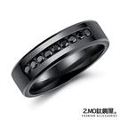 316L西德白鋼 簡約黑色戒指 不生鏽抗...