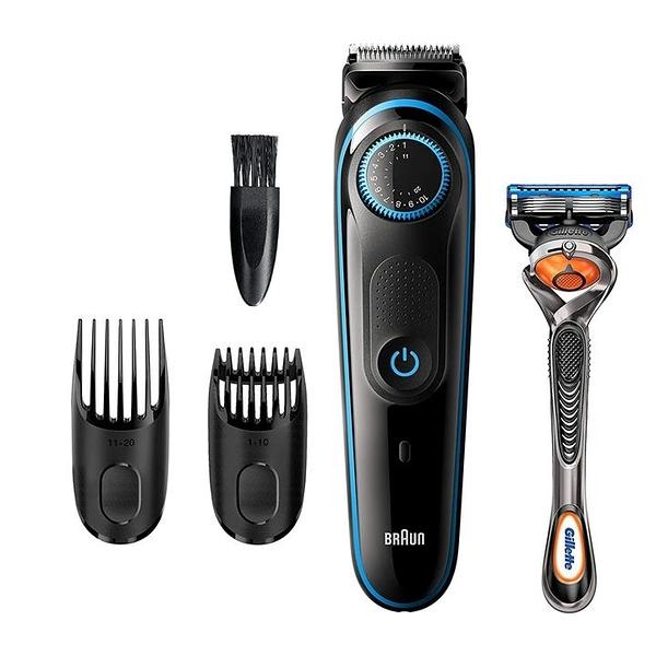 【美國代購】Braun Beard修剪器BT5240 男士理髮器 可充電 可使用吉列ProGlide刮鬍刀充電