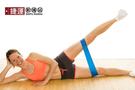 瑜珈伸展健身訓練環狀阻力帶-藍色