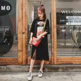裙子夏2019復古山本過膝超仙T恤長裙很仙的法國小眾連身裙女春秋 艾尚旗艦店