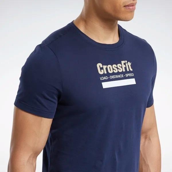 REEBOK CrossFit® Prepare Tee 男裝 短袖 慢跑 休閒 黑熊 舒適 透氣 藍【運動世界】FS7660