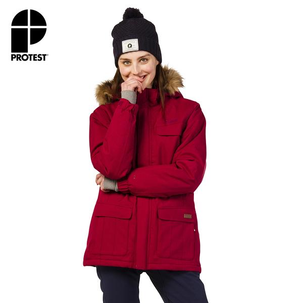 PROTEST 女 機能防水保暖外套 (蘿蔔紅) PORTHARDY SNOWJACKET