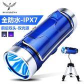 天火強光釣魚燈夜釣燈超亮藍光1000w可充電氙氣燈高防水支架夜光 智聯igo