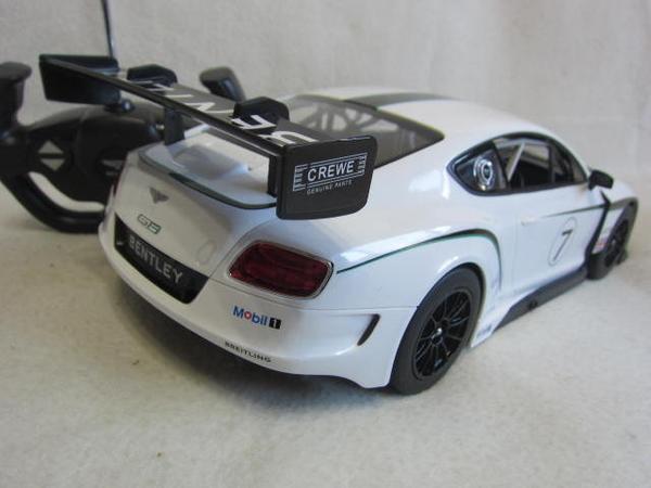 【KENTIM 玩具城】1:14全新賓利BENTLEY CONTINENTAL GT3空力賽車授權RASTAR遙控車