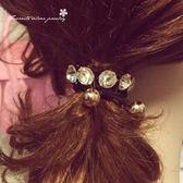 排鑽造型髮束 10095【櫻桃飾品】【10095】