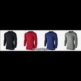 NIKE 束衣 Warm Comp LS 長袖 緊身 彈力 保暖 內刷毛 紋路 寒流 黑/紅/藍/灰 826596- 【SP】