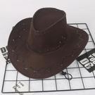 牛仔帽帽子美國西部牛仔帽男女藏族大檐帽戶外春秋冬季保暖沙灘帽印LOGO 智慧 618狂歡