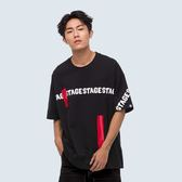 封條循環字寬版TEE STAGE SEAL T-SHIRT 黑色
