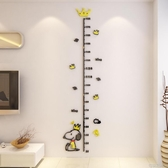 身高贴 兒童房身高墻貼量高尺3d立體寶寶測量創意卡通臥室亞克力裝飾貼畫 布衣潮人YJT