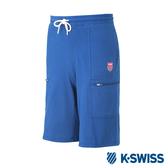 K-SWISS Beach Sweat Shorts棉質短褲-男-藍
