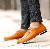 春季新款男士休閒時尚低筒繫帶小皮鞋 科炫數位