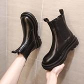 短筒靴 馬丁靴女內增高年瘦瘦中筒百搭煙筒短筒靴英倫風春秋單靴冬 唯伊時尚