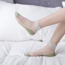 3雙裝 蕾絲襪花邊水晶短襪淺口棉襪潮薄款船襪襪子女【慢客生活】