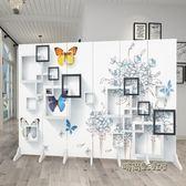 歐式3D屏風隔斷簡約現代行動玄關酒店臥室美容院客廳簡易折疊折屏Igo「時尚彩虹屋」