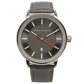A/X Armani Exchange知性簡約都會真皮錶帶男腕錶45mm(AX1462)271005