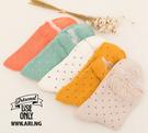 襪子   小點點蕾絲泡泡中筒襪  【FSW025】-收納女王
