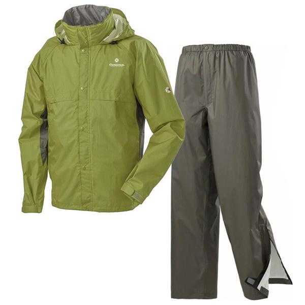 【日本 Caravan】中性 Air Refine Lite 雨衣雨褲套裝組『546 橄欖綠』0101909 防水.下雨.雨天.兩件式雨衣