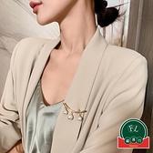 時尚人造珍珠胸針高檔別針裝飾西裝女網紅創意氣質【福喜行】