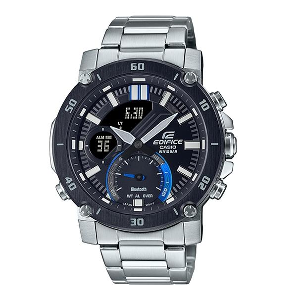 CASIO 卡西歐 手錶專賣店 ECB-20DB-1A EDIFICE 藍牙智慧錶款 雙顯 不鏽鋼錶帶 防水 ECB-20DB (ECB-20CL)