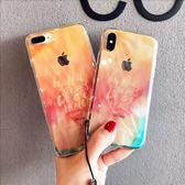 iphonex透明藍光手機殼小清新軟膠7p蘋果8plus創意全包6S女帶掛繩