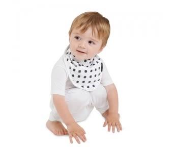 MUM 2 MUM 雙面竹纖維棉機能口水巾圍兜 水彩方塊/星星 ZMU363406 好娃娃