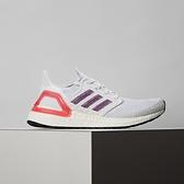 Adidas Ultraboost 20 W 女鞋 白紅 襪套 休閒 運動 慢跑鞋 EG0726