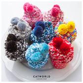 Catworld 交換禮物*SWEET繽紛蛋糕珊瑚絨襪【18900150】‧F
