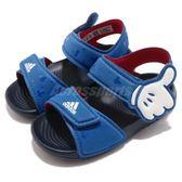 adidas 涼鞋 DY M M AltaSwim I 藍 白 米老鼠 魔鬼氈 拖鞋 童鞋 小童鞋【PUMP306】 CQ0107