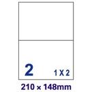 【奇奇文具】裕德Unistar US4282 210×148mm 2格 A4 三合一 電腦標籤(1盒100張)