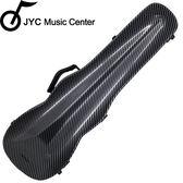 ★JYC Music★JV-1002黑色碳纖大斜格紋小提琴三角硬盒~4/4(輕量級複合材料)僅重1.69kg 限量