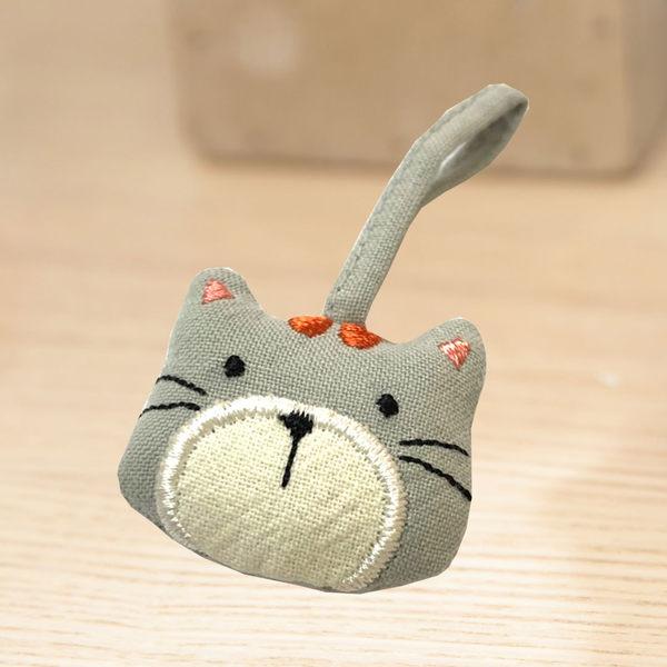 吊飾/Kiro貓‧日系貓咪拼布包 貓咪 造型拉鍊頭吊飾 【222365】