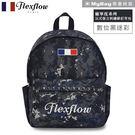 Flexflow 費氏芙蘿 後背包 FBB16BCA01 黑迷彩 龐畢度刺繡鉚釘後背包 MyBag得意時袋