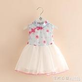 聚寶寶旗袍洋裝2021夏裝女童童裝兒童中國風盤扣唐裝qz-3980 怦然新品