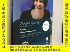 二手書博民逛書店ACCA罕見Approved Paper F5 Performance ManagementY5919 BPP