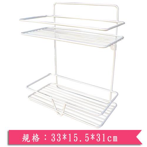 便利家方型雙層置物架33*15.5*31cm【愛買】