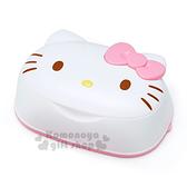 〔小禮堂〕Hello Kitty 日製造型卸妝濕紙巾盒《白.蝴蝶結.大臉型》內附31抽卸妝濕紙巾 4573366-26006