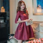 晚禮服女春裝新款名媛宴會婚禮年會高貴蓬蓬連身裙 FR4497『男人範』