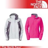 【The North Face 女 GT WIND PRO兩件式外套《灰白桃紅》】F13P-WHT/兜帽外套/防水/防風/抗寒/風衣★滿額送