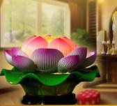 LED陶瓷供佛前供蓮花燈供奉用品LYH2705【大尺碼女王】