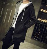 男士冬季外套 加絨加厚夾克 男款韓版潮流帥氣秋冬裝上衣服 中長款風衣 個性時尚男款外套