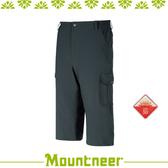【Mountneer 山林 男 四彈抗UV七分褲《深灰藍》】31S15-86/抗UV/UPF50+/彈性/吸濕排汗/舒適/休閒