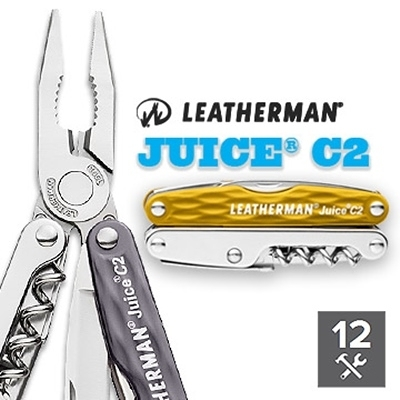 Leatherman JUICE C2工具鉗#831934(黃色)/#831936(灰色)【AH13115】聖誕節交換禮物 99愛買生活百貨