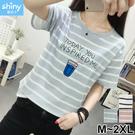 【V2896】shiny藍格子-甜心休閒...