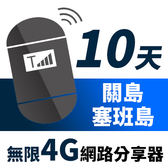 【TPHONE上網專家】關島/塞班島網路無限高速4G分享器 10天 一天只要$230