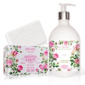 IKP巴黎乳油木 玫瑰花園香氛液體皂(500ml)+玫瑰手工皂(200g)