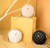 斜背包-小圓包女包新款夏季白色香奶奶圓形包包 提拉米蘇